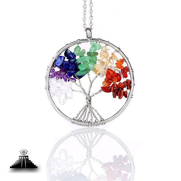 Seven Chakra Tree of Life Necklace