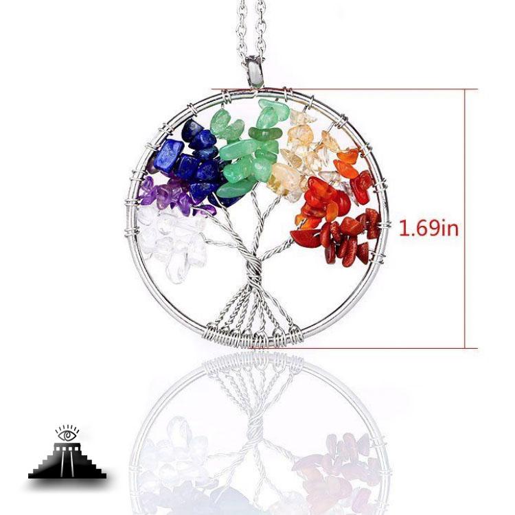 Seven Chakra Tree of Life Necklace